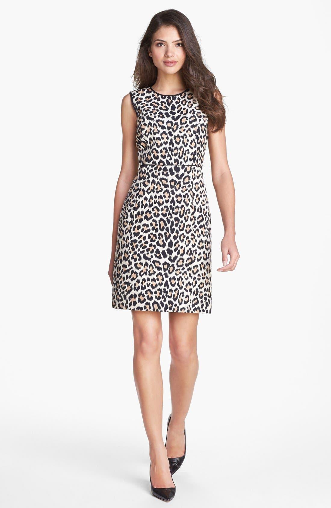 Main Image - kate spade new york 'paulina' cotton & silk a-line dress