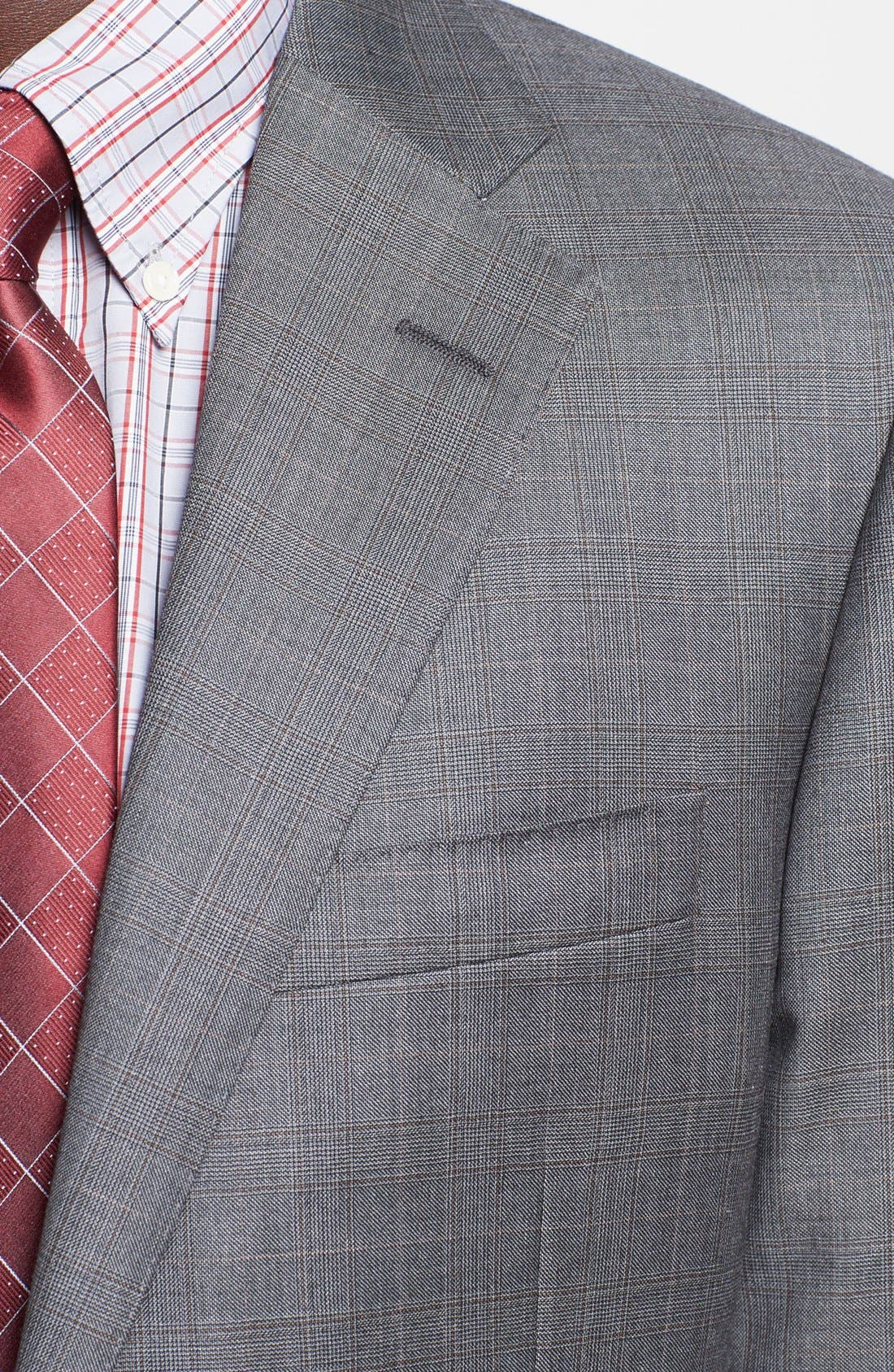 Alternate Image 2  - Hickey Freeman 'B Series' Classic Fit Plaid Suit