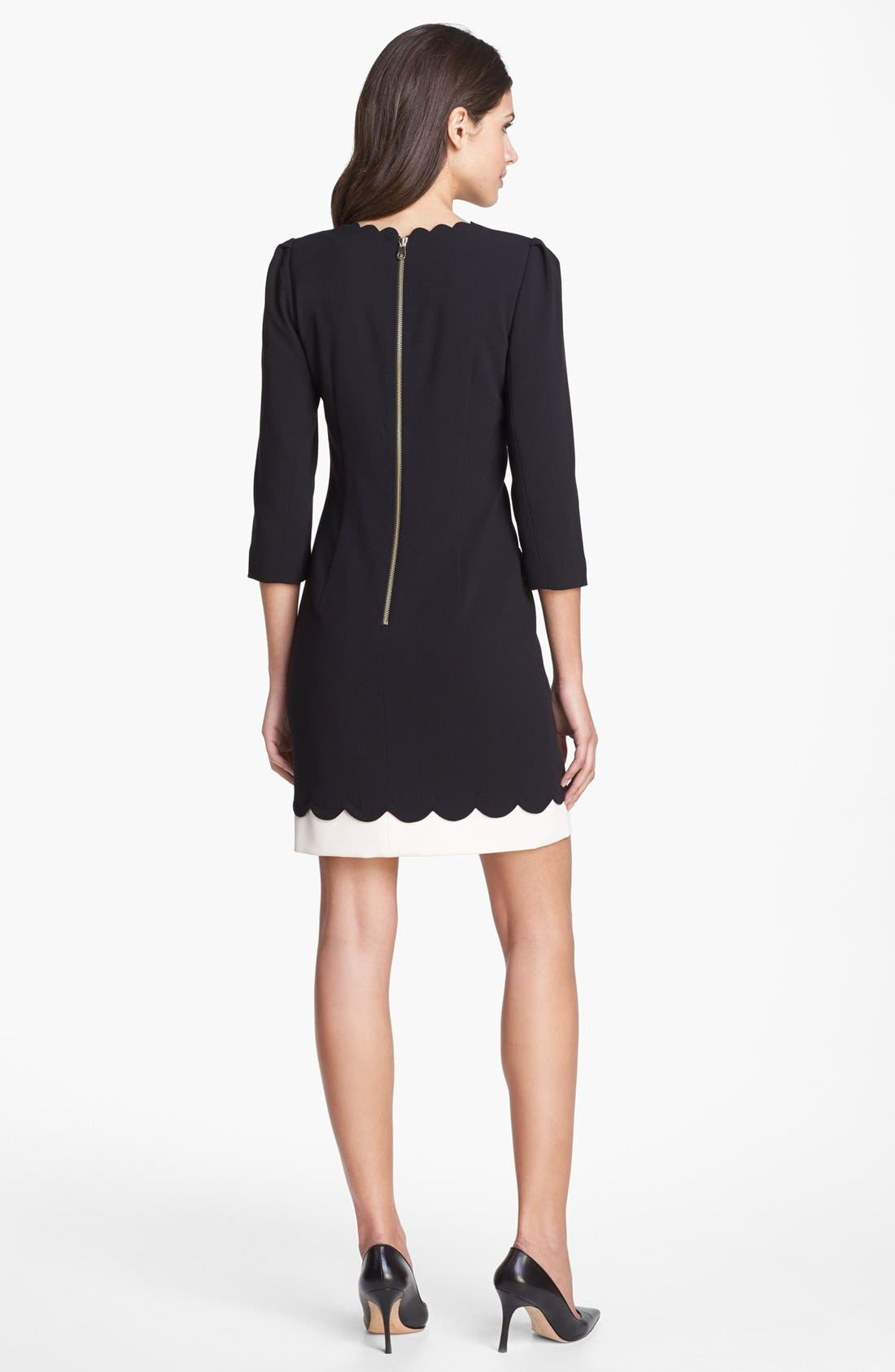 Alternate Image 2  - Ted Baker London Scalloped Stretch Shift Dress