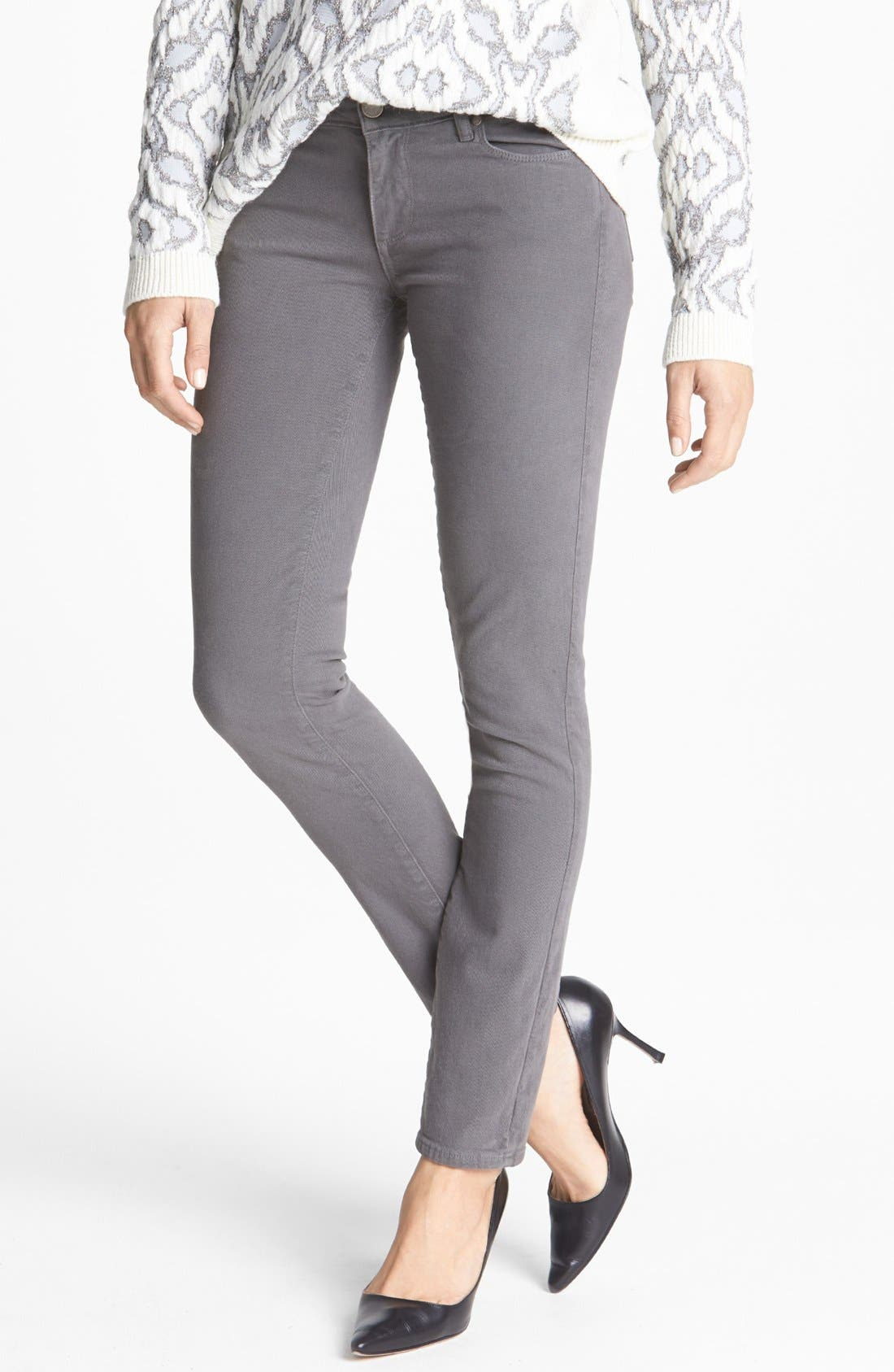 Alternate Image 1 Selected - Paige Denim 'Skyline' Stretch Skinny Jeans (Mobile)