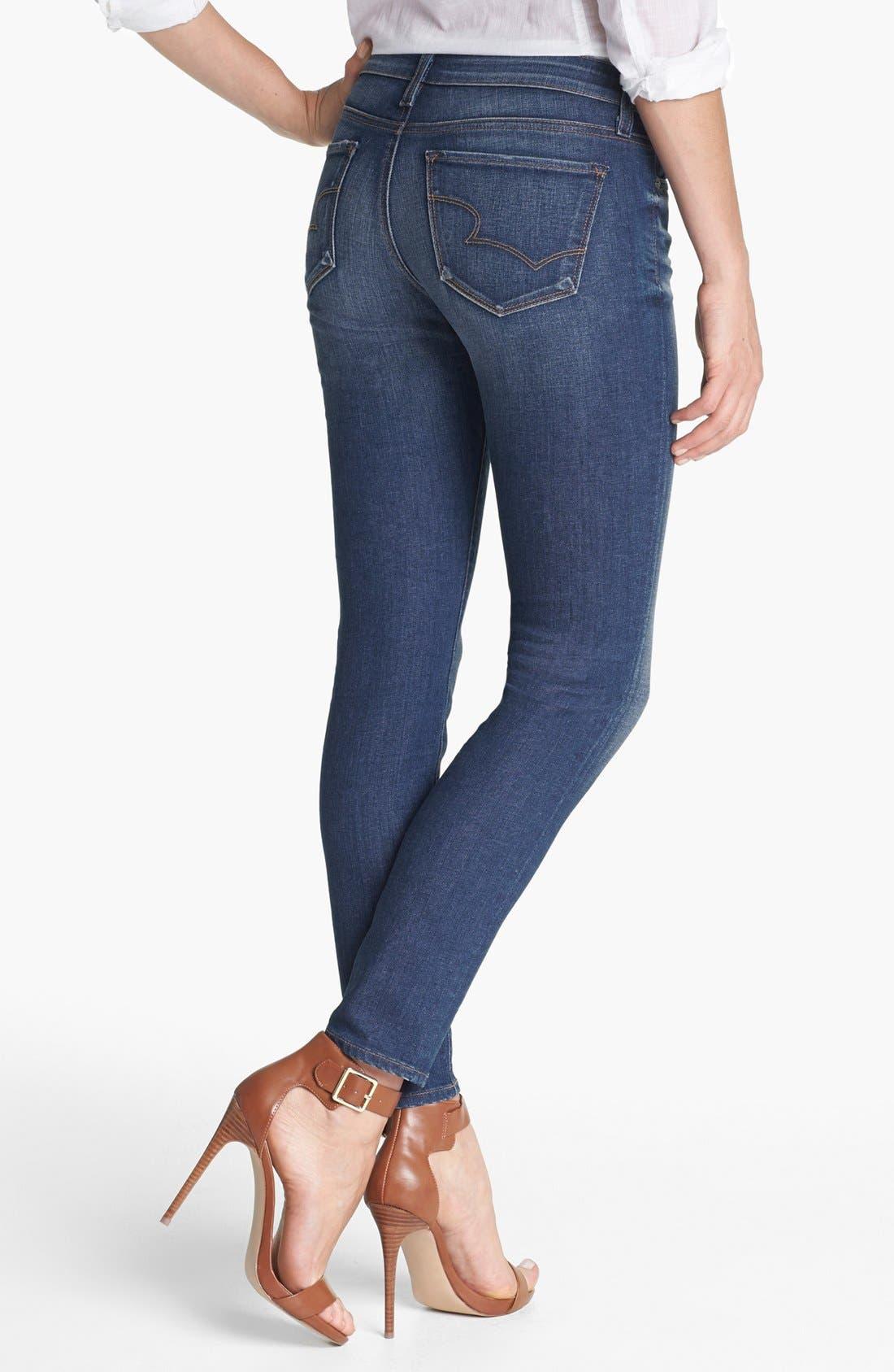 Alternate Image 2  - Big Star 'Alex' Stretch Skinny Jeans (Six Year Tide) (Petite)