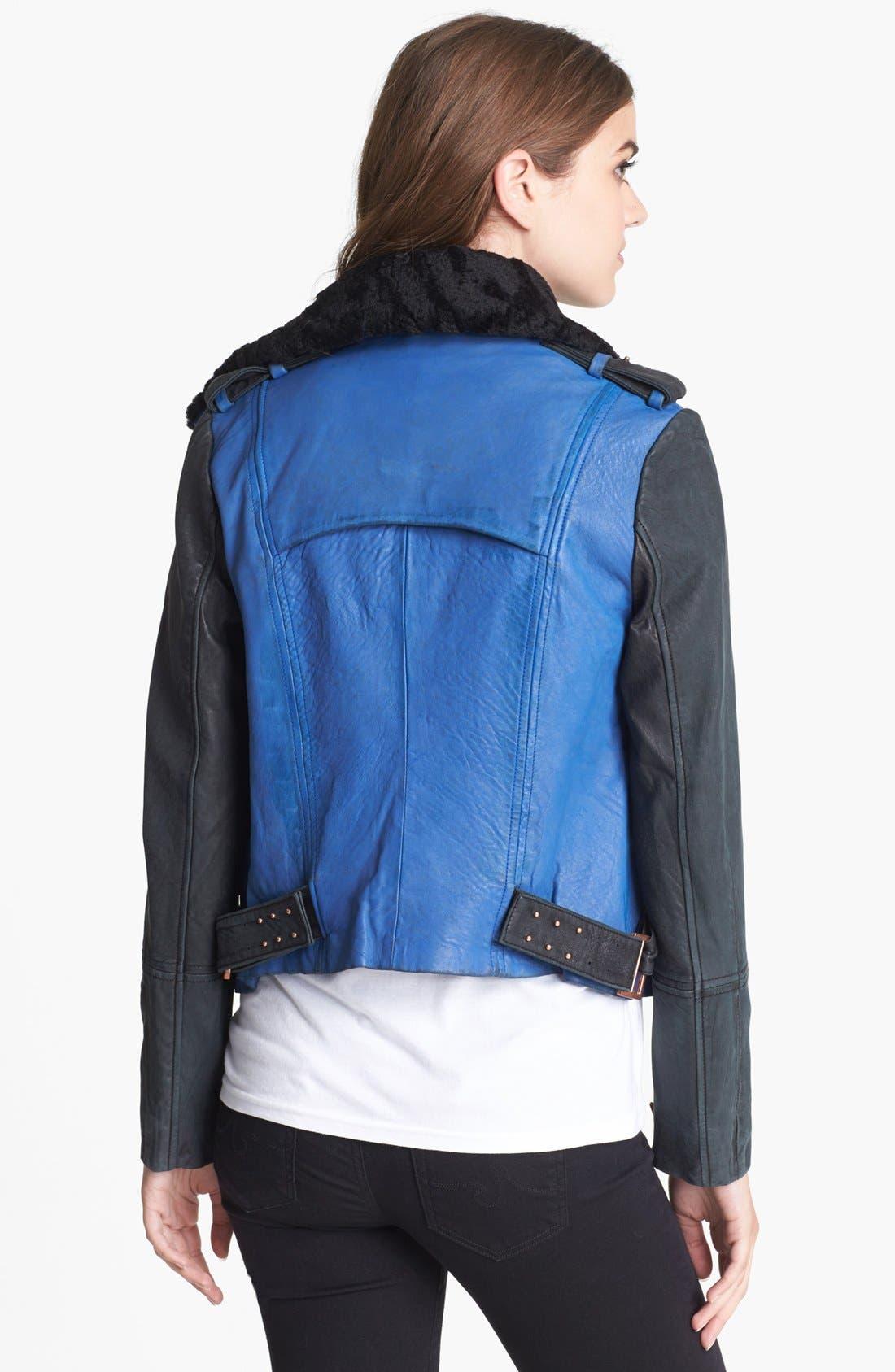 Alternate Image 2  - ELEVENPARIS 'Trinite' Leather Jacket