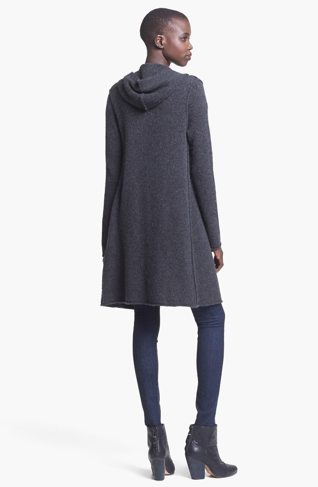 Alternate Image 3  - autumn cashmere Hooded Cashmere Duster