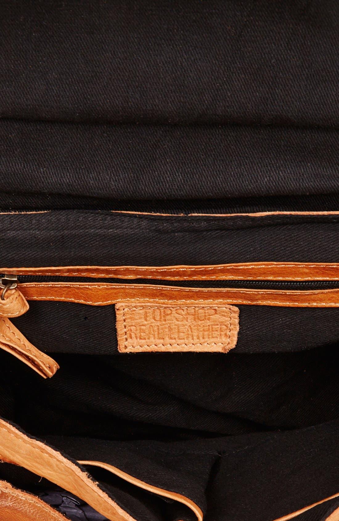 Alternate Image 3  - Topshop 'Brogue' Leather Satchel