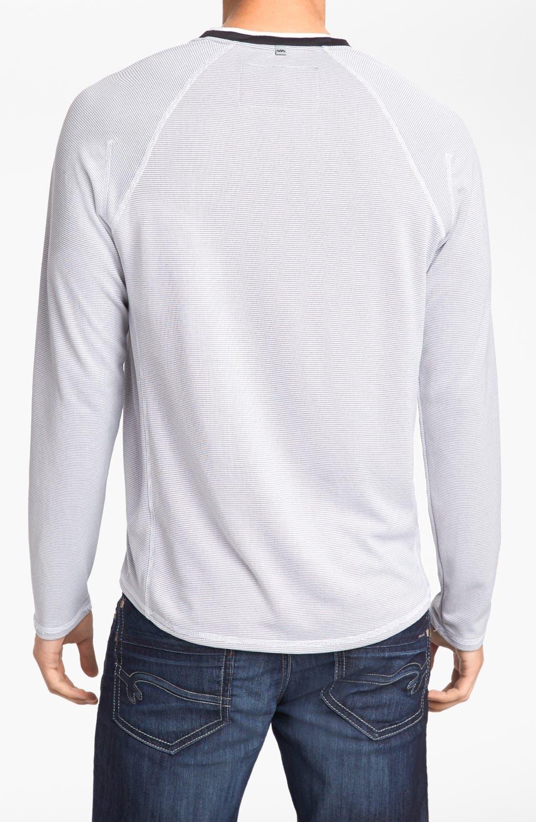 Alternate Image 2  - RVCA 'Fraction' Long Sleeve V-Neck T-Shirt