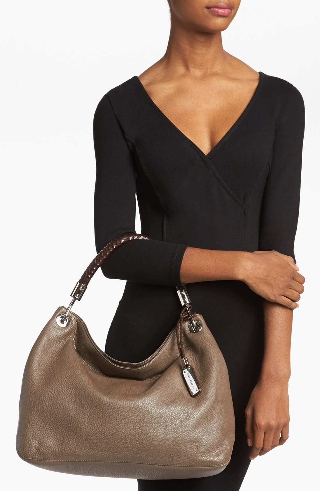 Alternate Image 2  - Michael Kors 'Large Skorpios' Leather Shoulder Bag