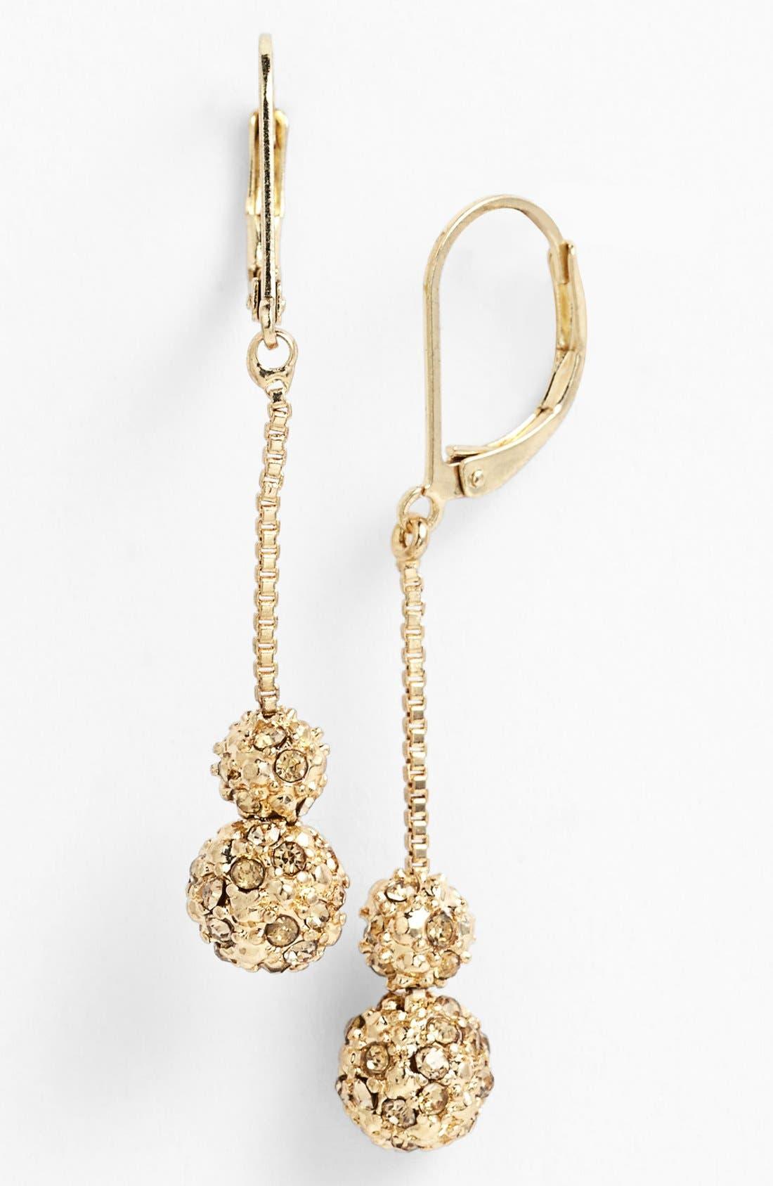 Alternate Image 1 Selected - Anne Klein Double Fireball Drop Earrings