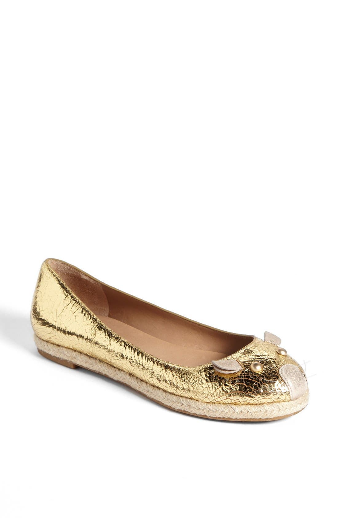 Alternate Image 1 Selected - MARC BY MARC JACOBS 'Mouse' Metallic Calfskin Leather Espadrille Flat