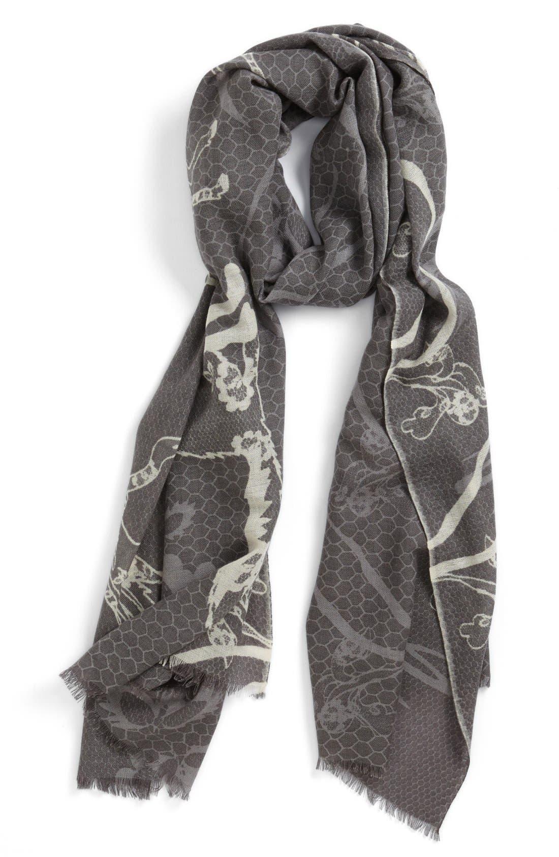 Main Image - Yarnz 'Animal Lace' Cashmere & Wool Scarf