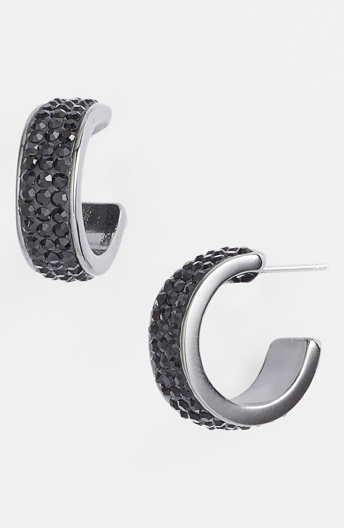 Main Image - Nordstrom 'All that Glitters' Small Pavé Hoop Earrings