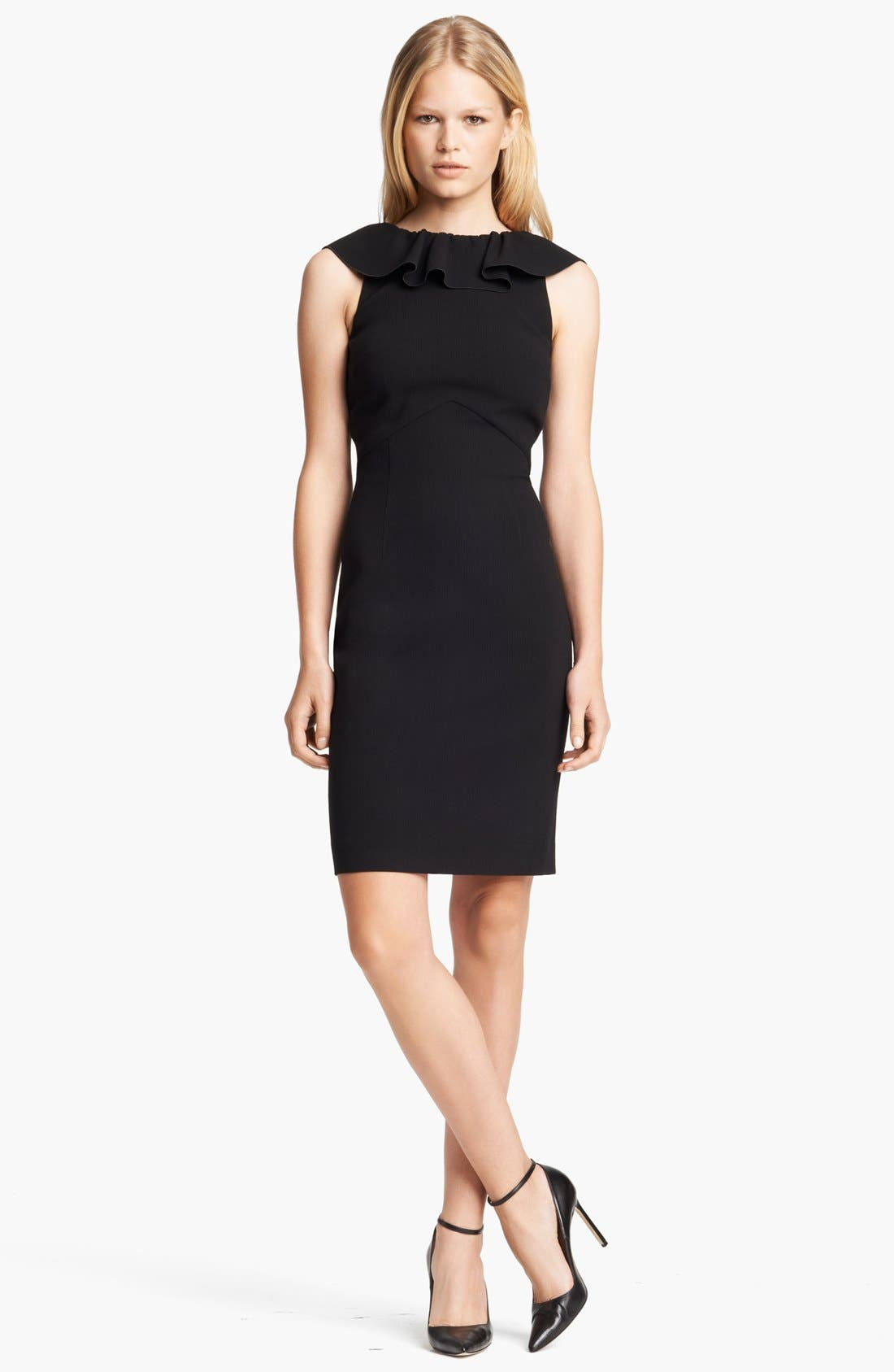 Alternate Image 1 Selected - Emilio Pucci Ruffled Neck Stretch Wool Dress