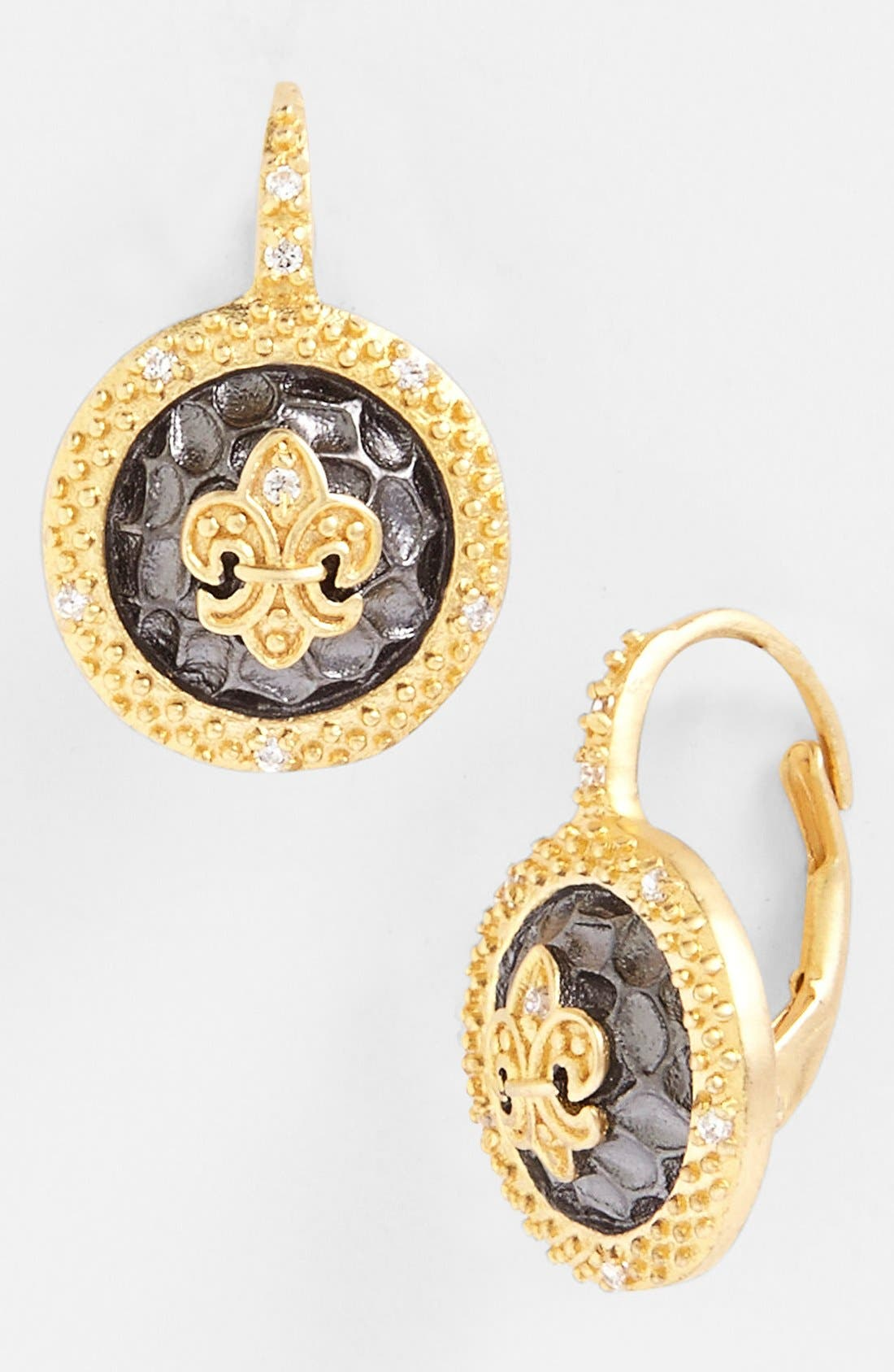 Alternate Image 1 Selected - FREIDA ROTHMAN 'Tribeca' Fleur de Lis Drop Earrings