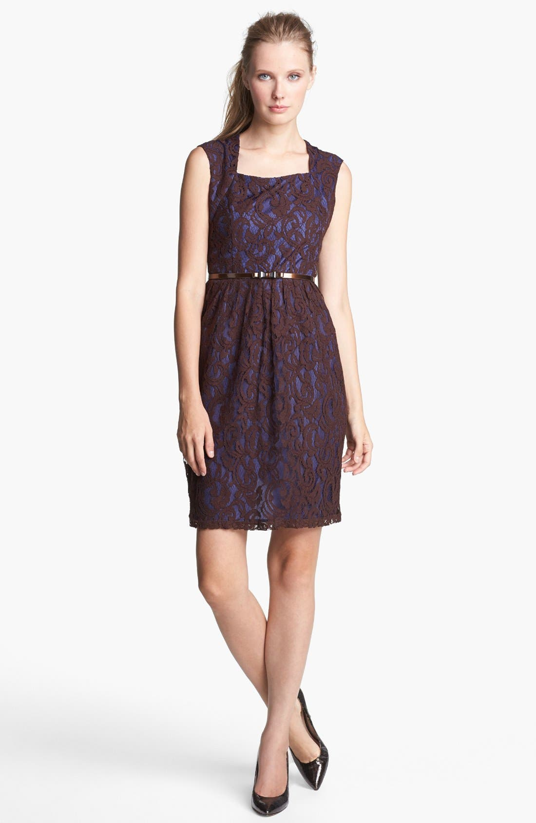 Main Image - Ellen Tracy Lace Sheath Dress
