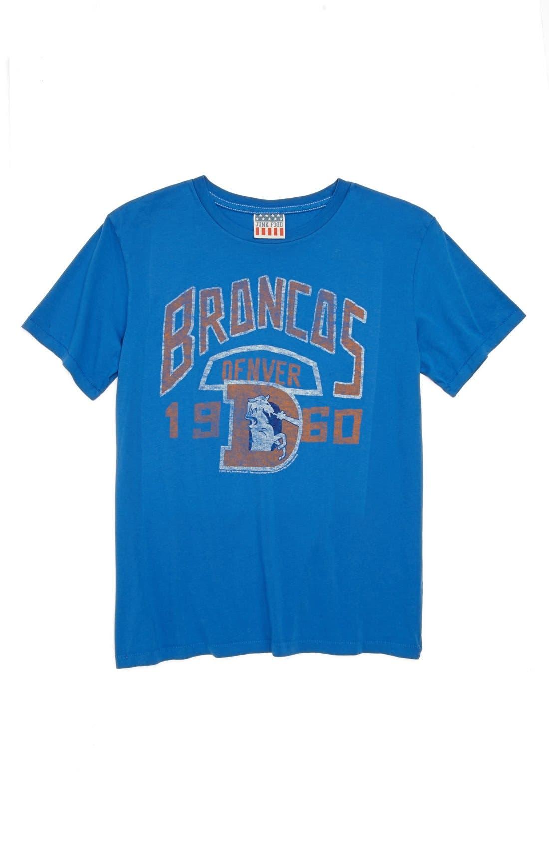 Alternate Image 1 Selected - Junk Food 'Denver Broncos' T-Shirt (Little Boys & Big Boys)