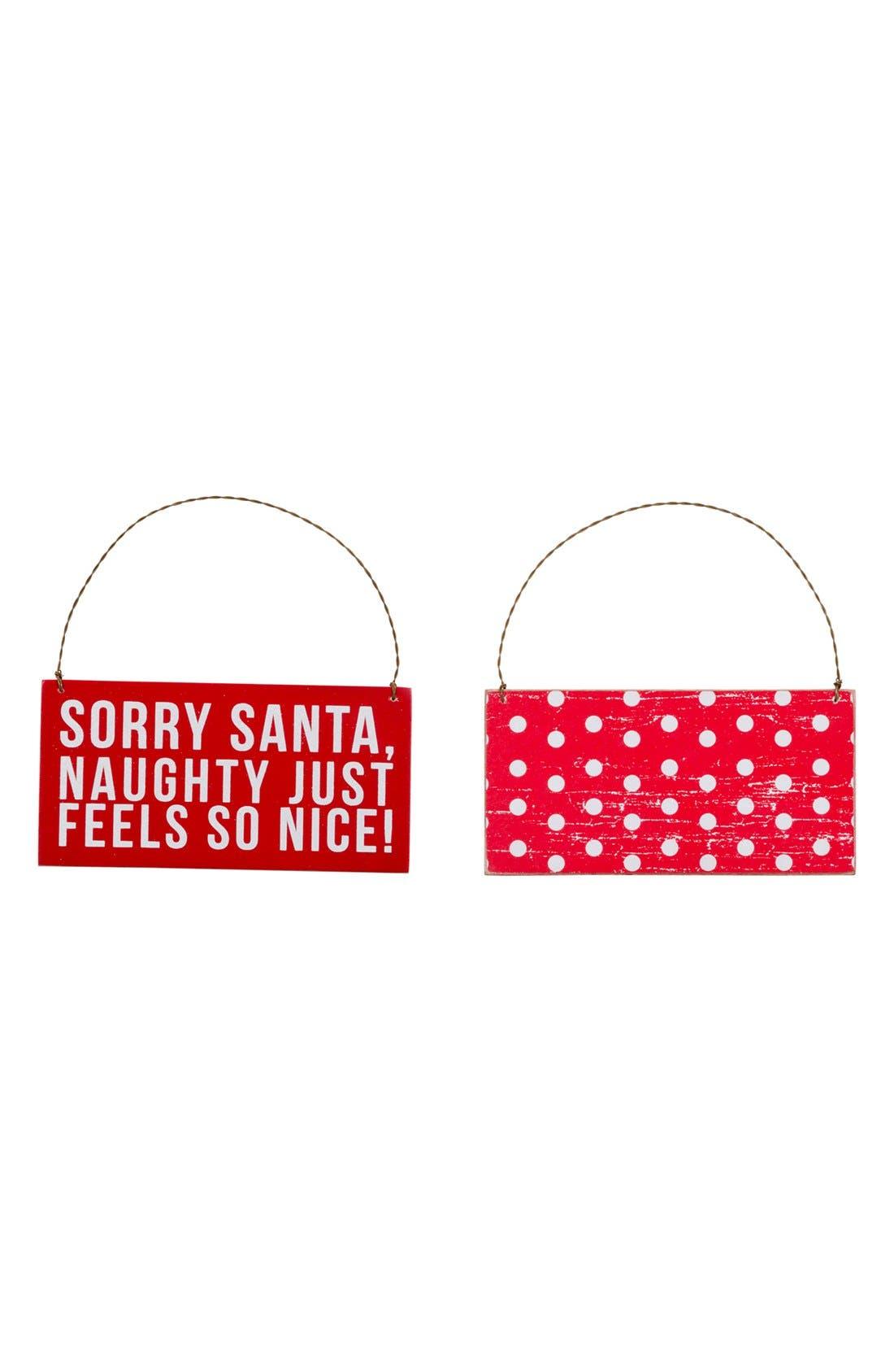 Alternate Image 2  - Primitives by Kathy 'Sorry Santa' Ornament