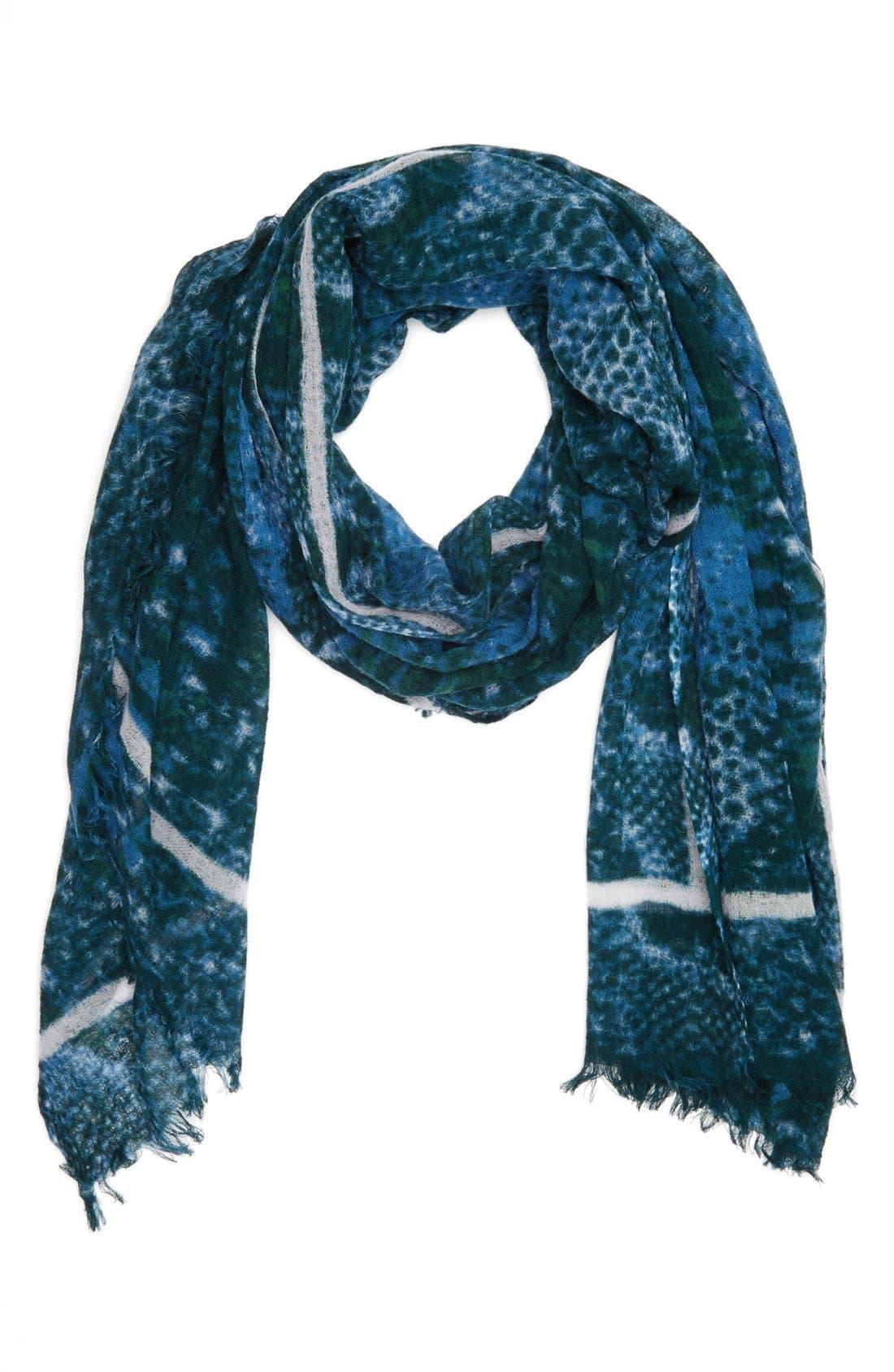 Alternate Image 1 Selected - Nordstrom 'Serpentine' Wool Gauze Scarf