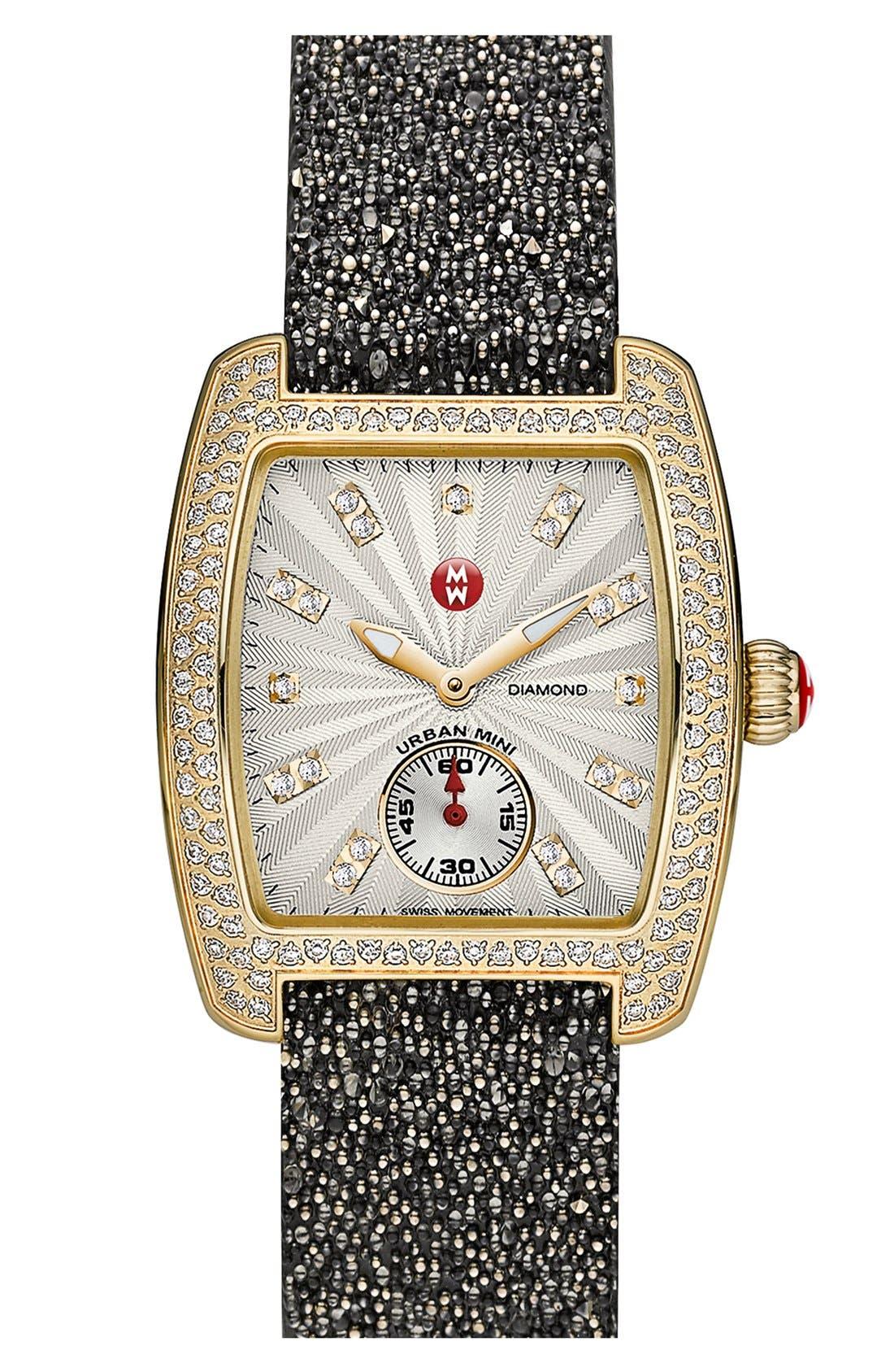 Alternate Image 3  - MICHELE 'Urban Mini Diamond' Diamond Dial Watch Case, 29mm x 30mm