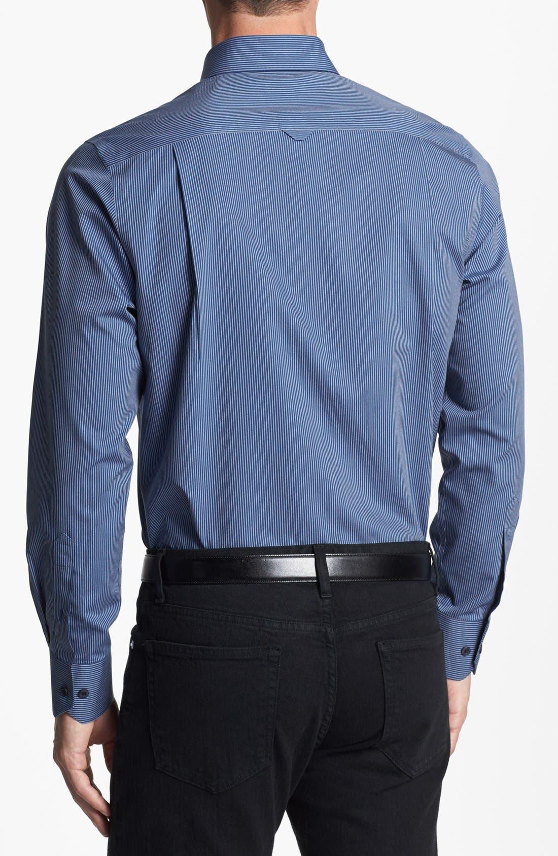 Alternate Image 2  - Nordstrom Smartcare™ Striped Regular Fit Sport Shirt