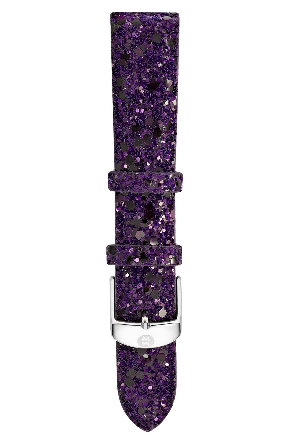 Alternate Image 1 Selected - MICHELE 18mm Glitter Watch Strap