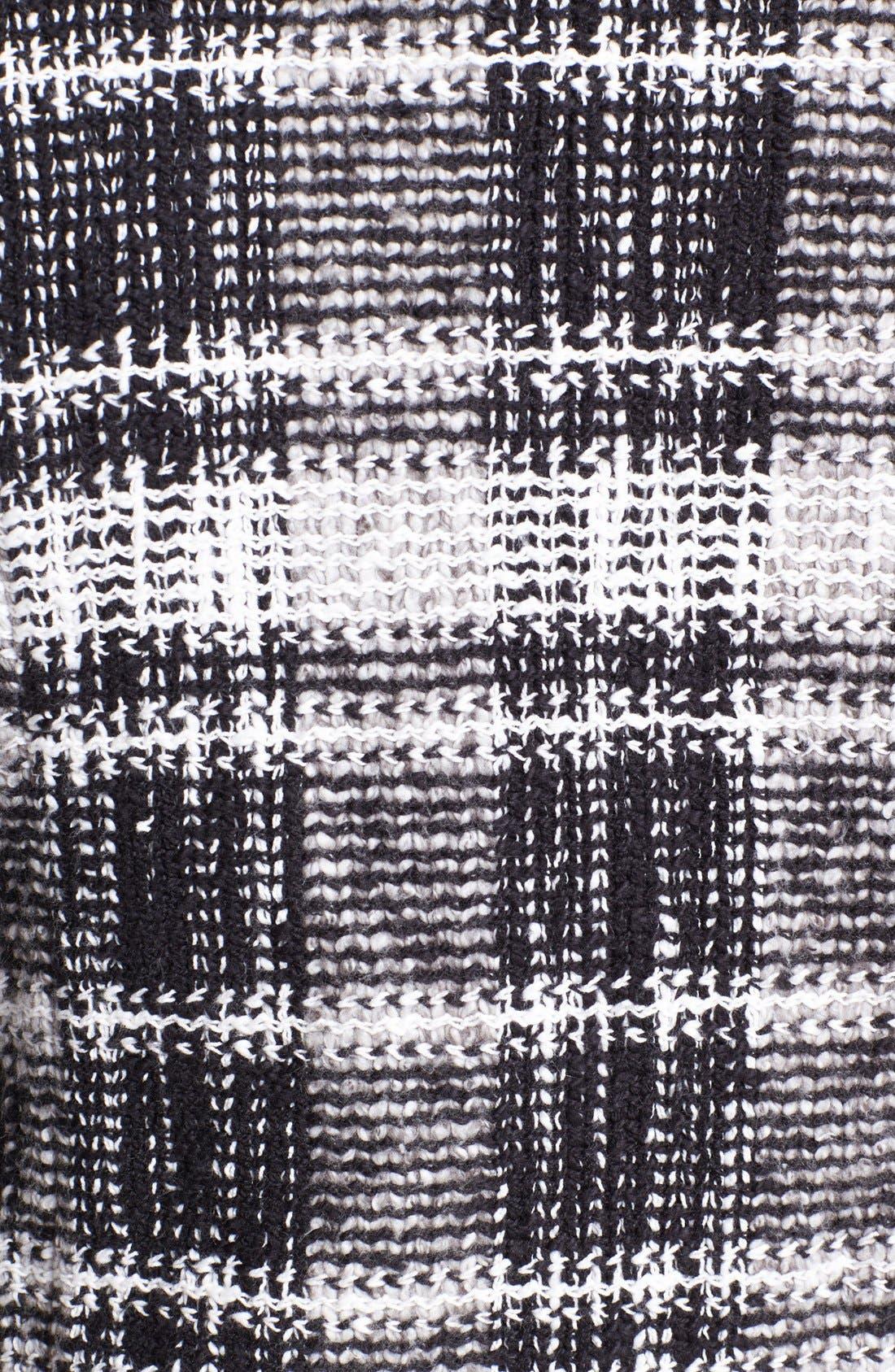 Alternate Image 3  - Lucky Brand Plaid Moto Sweater Jacket (Plus Size)