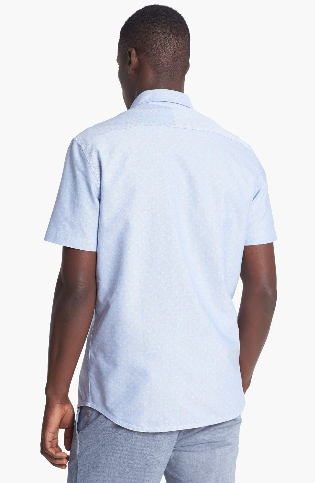 Alternate Image 2  - Paul Smith Jeans Tailored Fit Short Sleeve Dot Print Short
