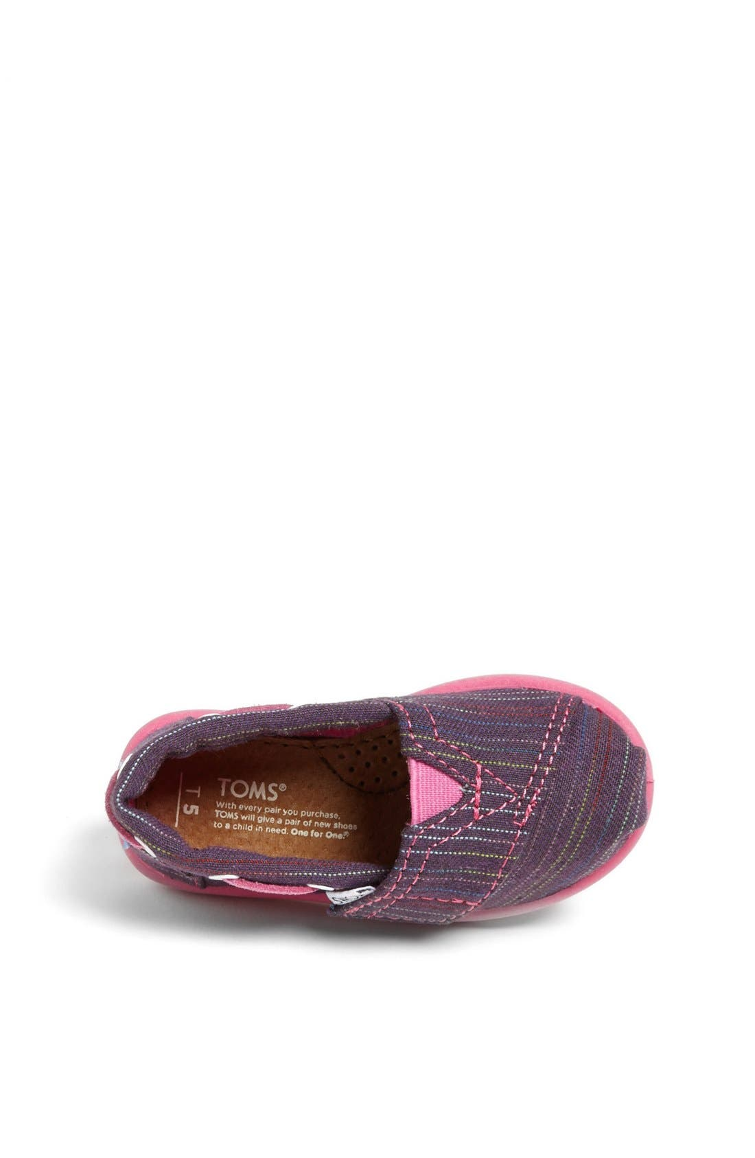 Alternate Image 3  - TOMS 'Classic Tiny - Stripe Bimini' Slip-On (Baby, Walker & Toddler)