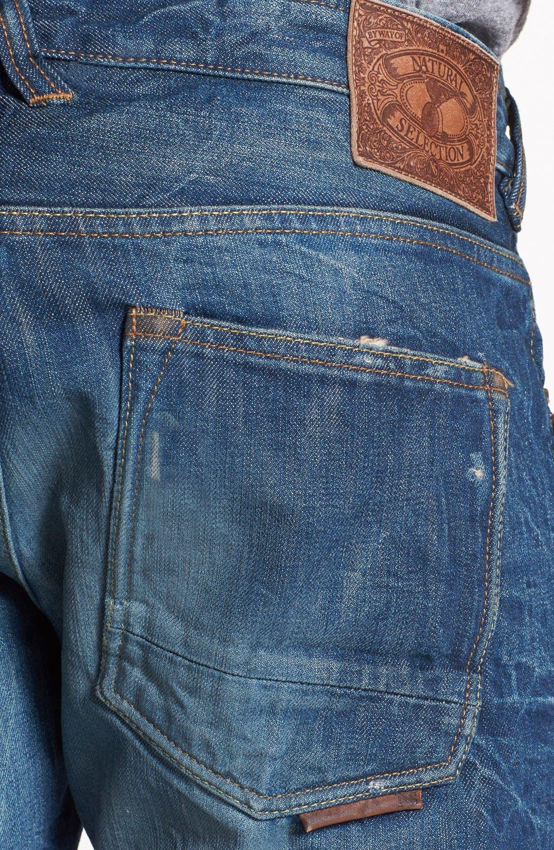 Alternate Image 4  - Natural Selection Denim Narrow Slim Straight Leg Jeans (Saddle)