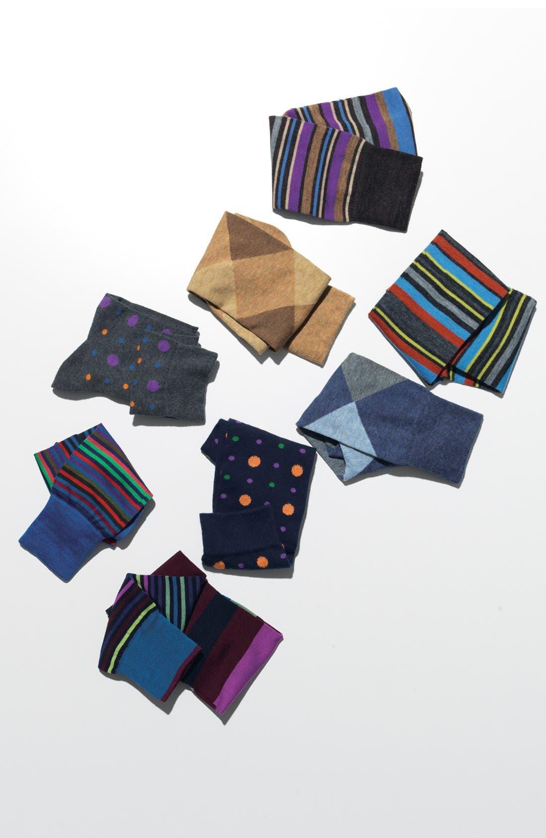 Alternate Image 2  - Lorenzo Uomo Stripe Socks