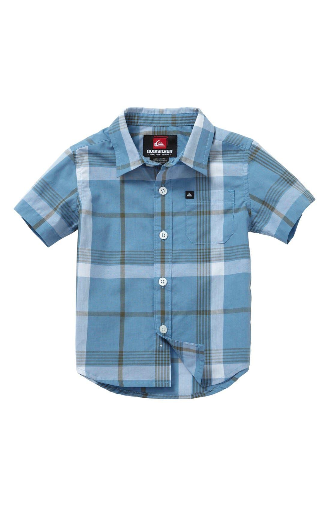 Main Image - Quiksilver 'Jumbo Gumbo' Plaid Shirt (Baby Boys)
