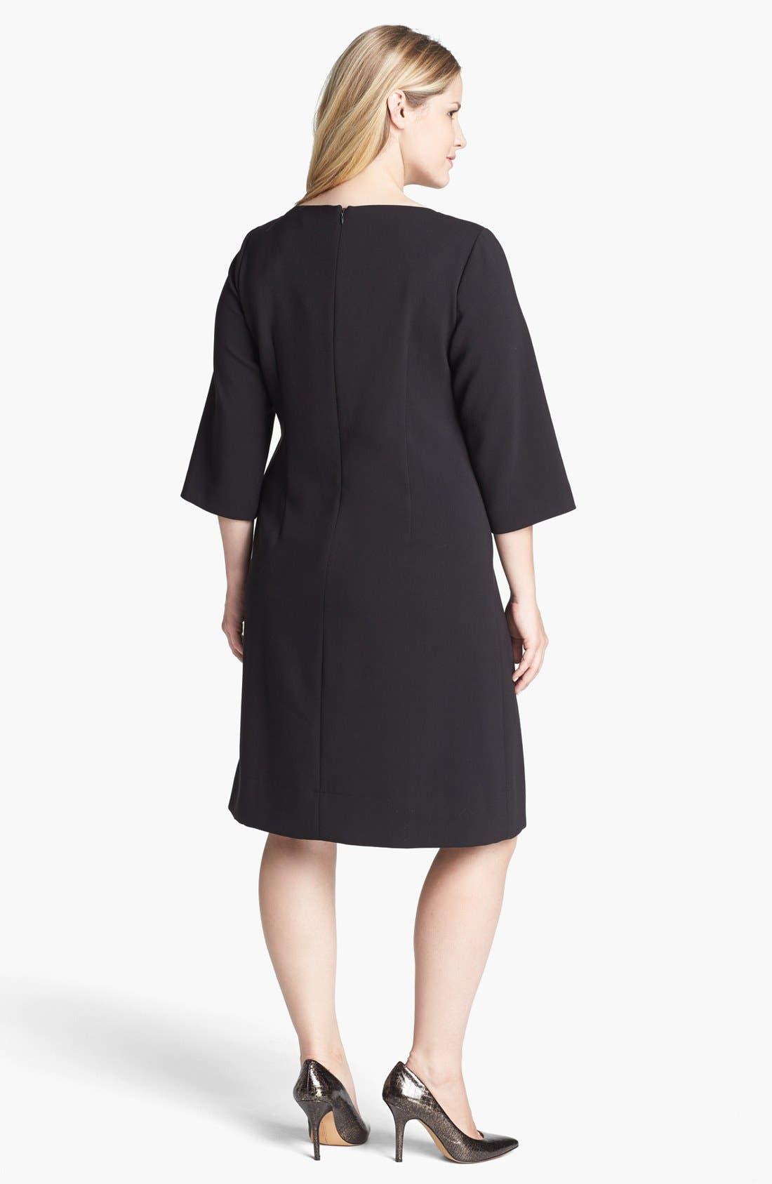 Alternate Image 2  - Eliza J Ponte Knit Shift Dress