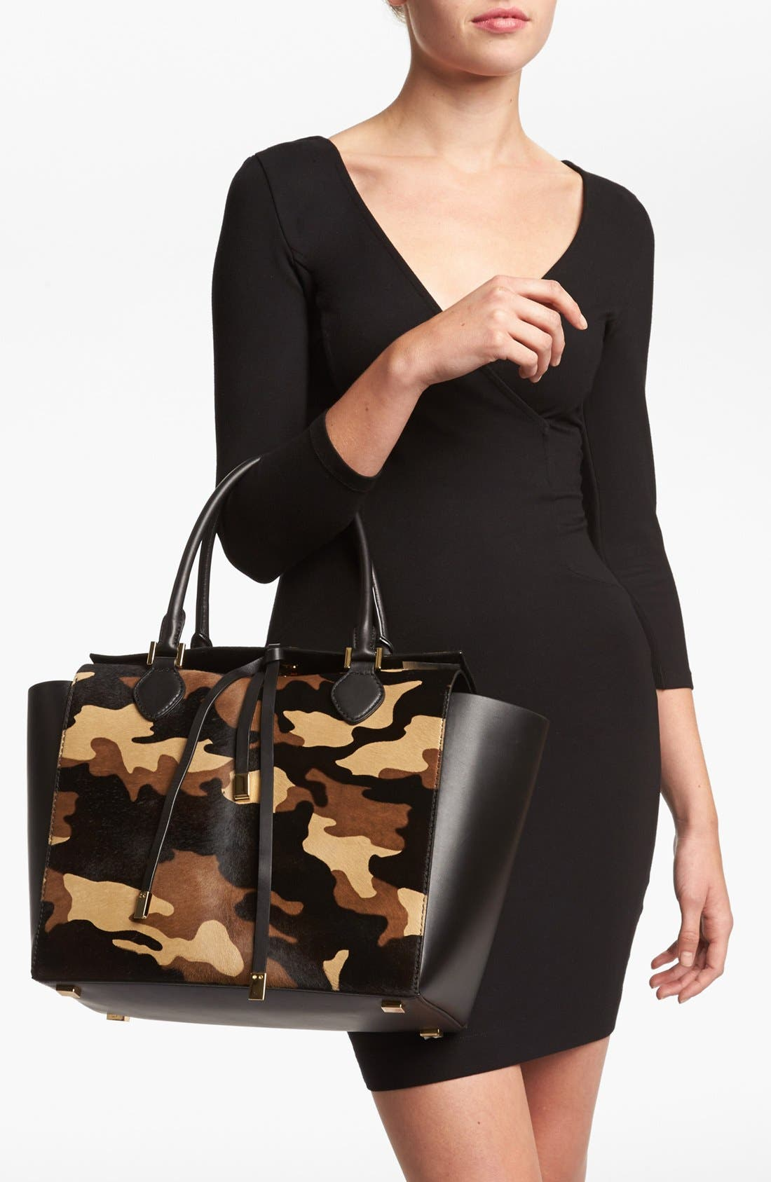 Alternate Image 2  - Michael Kors 'Miranda' Calf Hair & Leather Tote