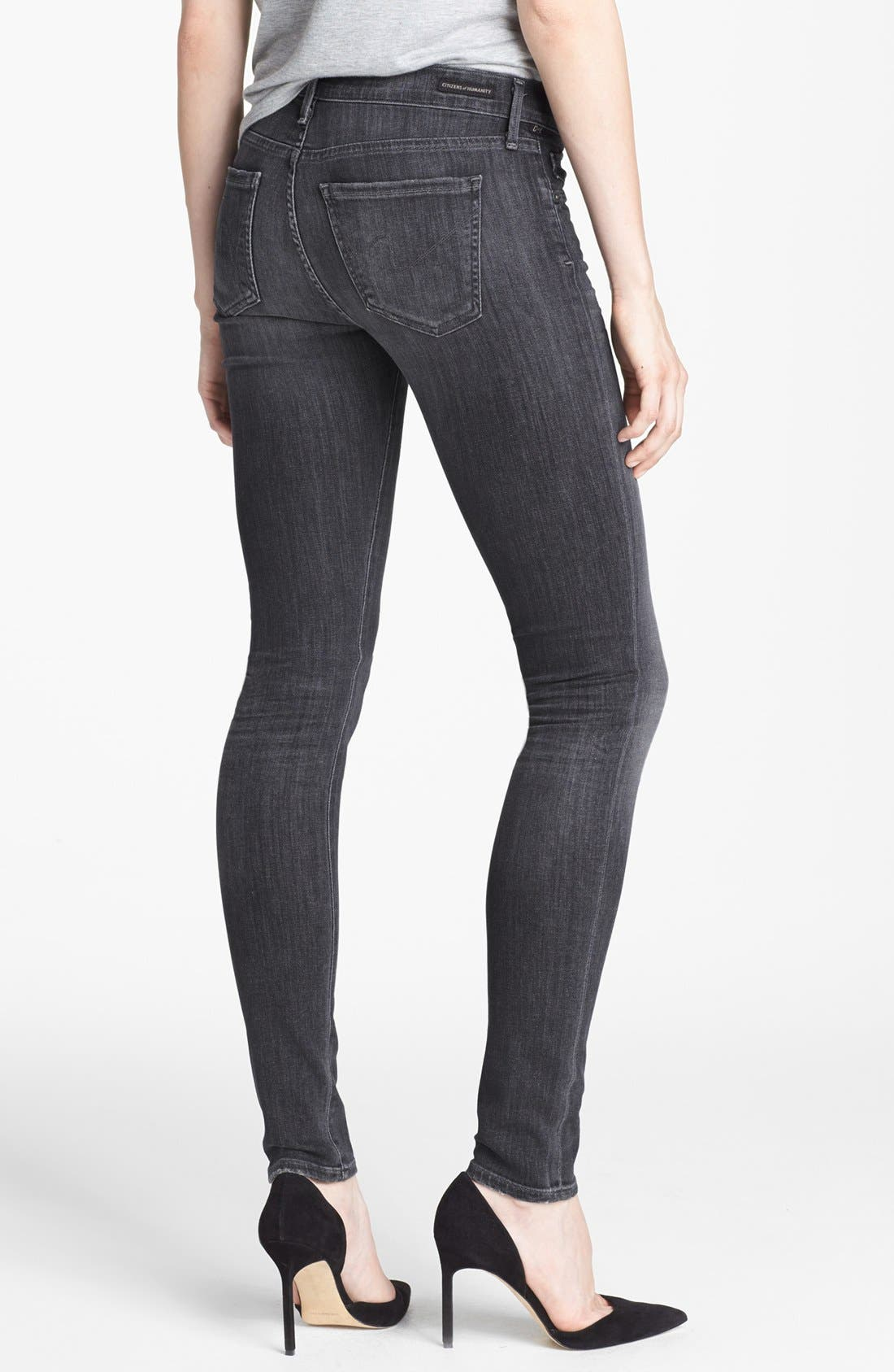 Alternate Image 2  - Citizens of Humanity Ultra Skinny Jeans (Moonshadow)