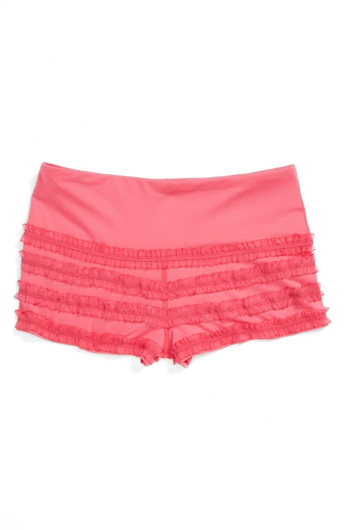 Alternate Image 2  - Limeapple 'Dance' Ruffled Mini Shorts (Big Girls)