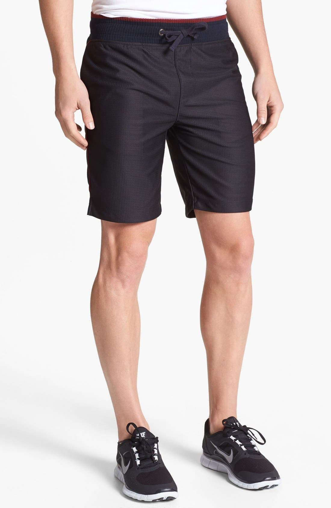 Main Image - Number:LAB 'cool:TECH' Double Layer Drawstring Shorts