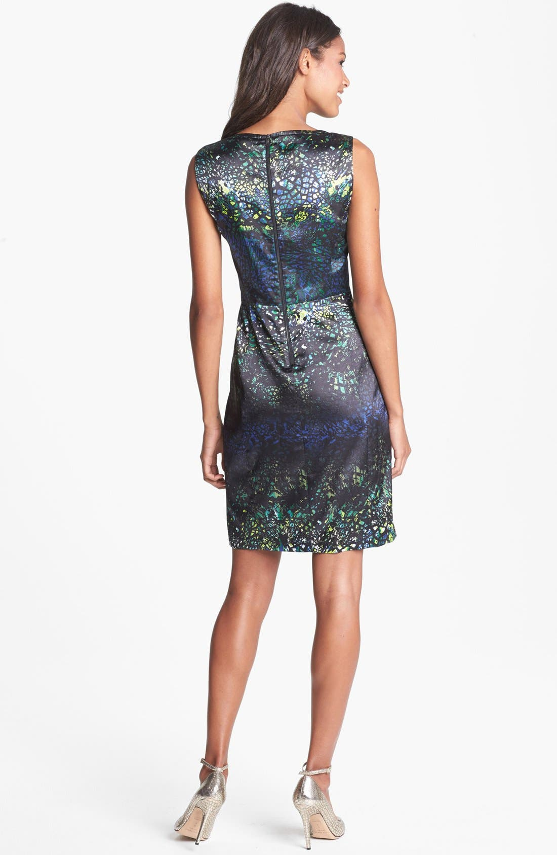 Alternate Image 2  - T Tahari 'Sienna' Print Sheath Dress