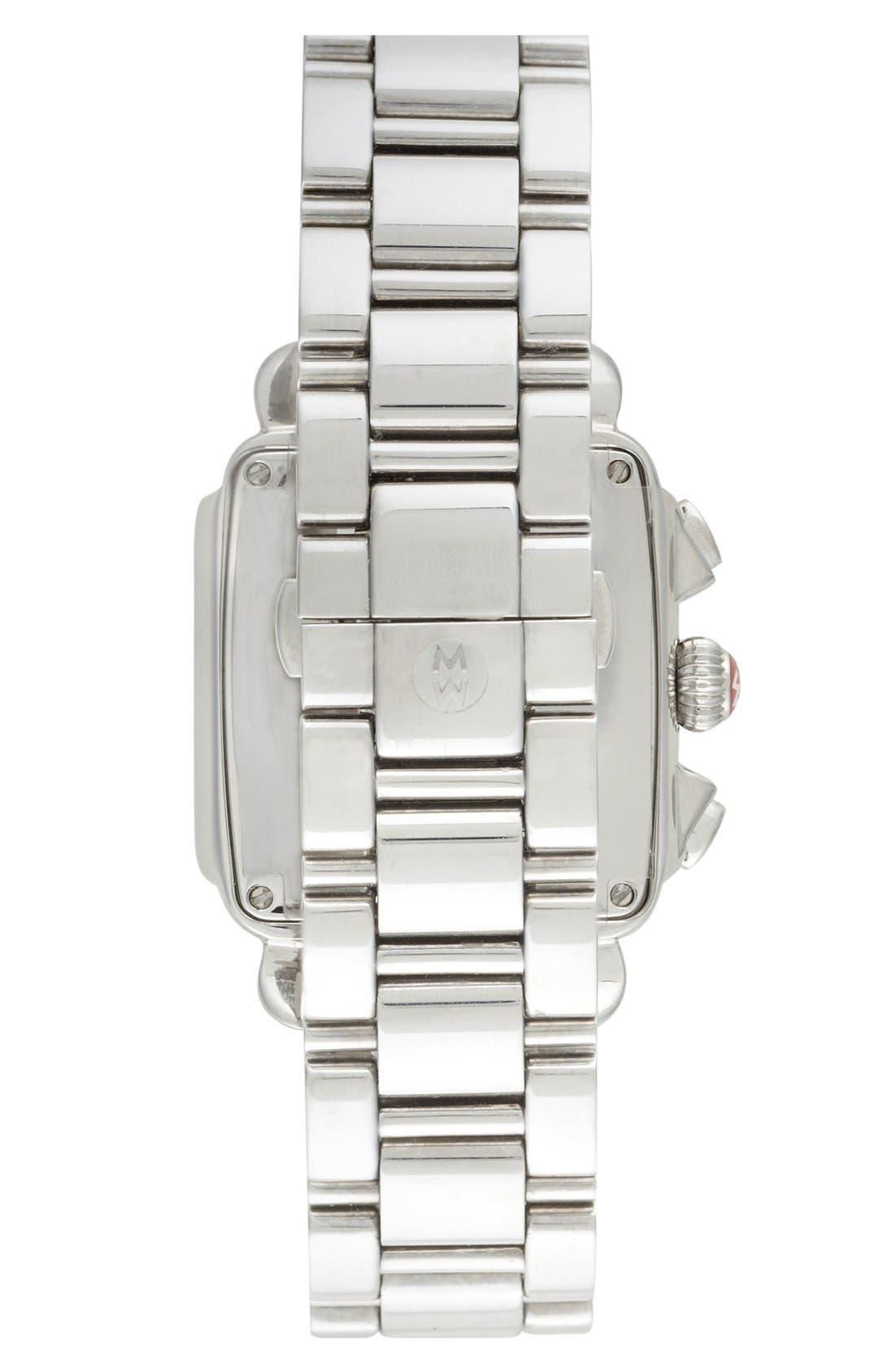 Alternate Image 2  - MICHELE 'Deco Diamond' Watch Case & 18mm Bracelet