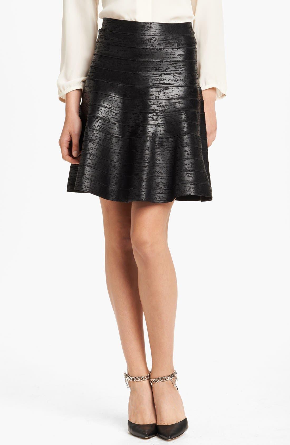 Alternate Image 1 Selected - Herve Leger Foiled Skirt
