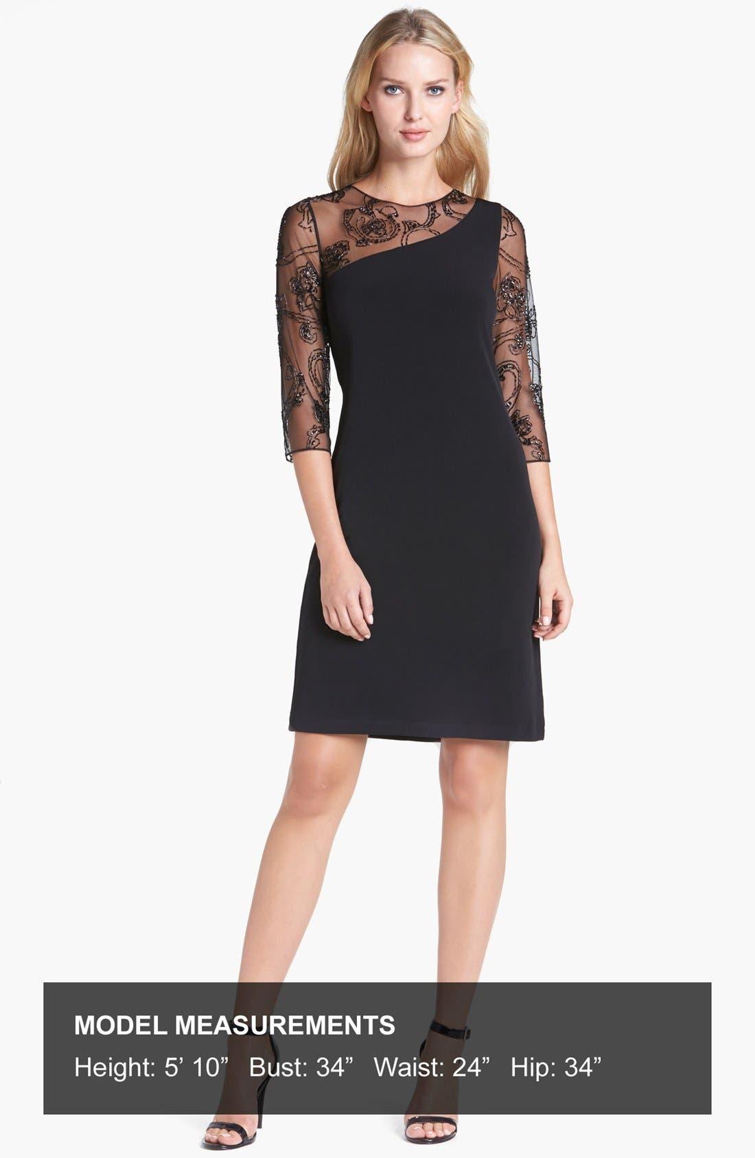 Alternate Image 4  - Patra Illusion Yoke Jersey Dress