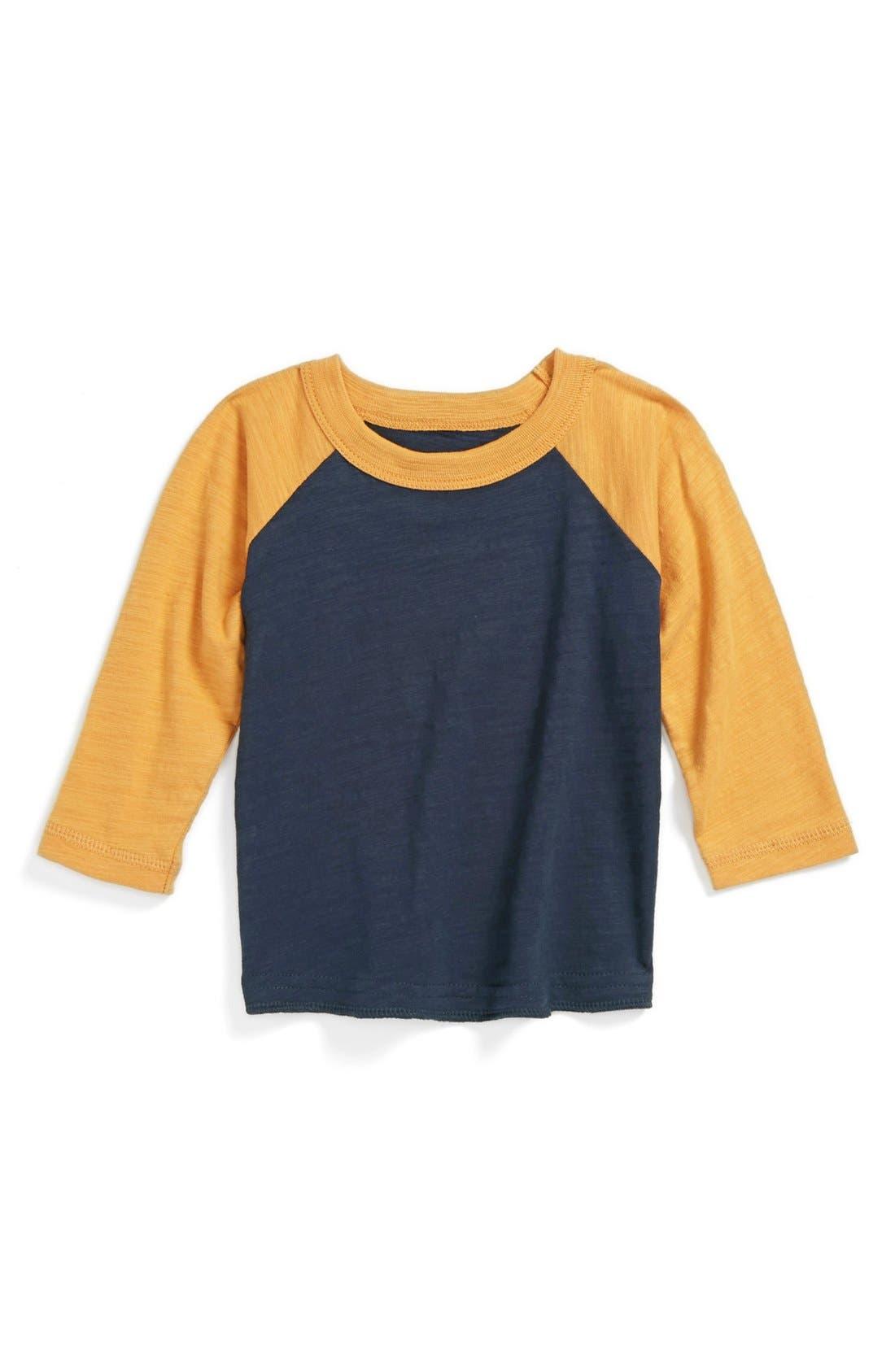 Alternate Image 1 Selected - Peek 'Field' Long Sleeve T-Shirt (Baby Boys)