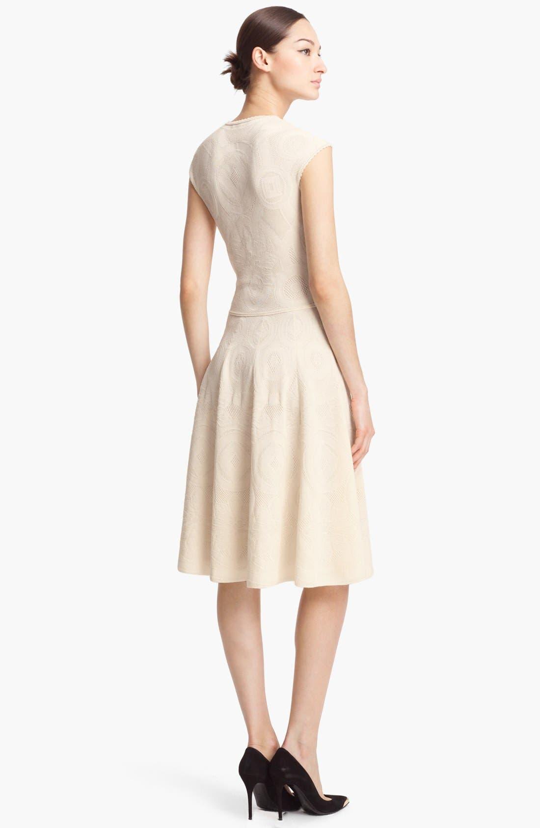 Alternate Image 2  - Alexander McQueen Full Skirt Jacquard Knit Dress