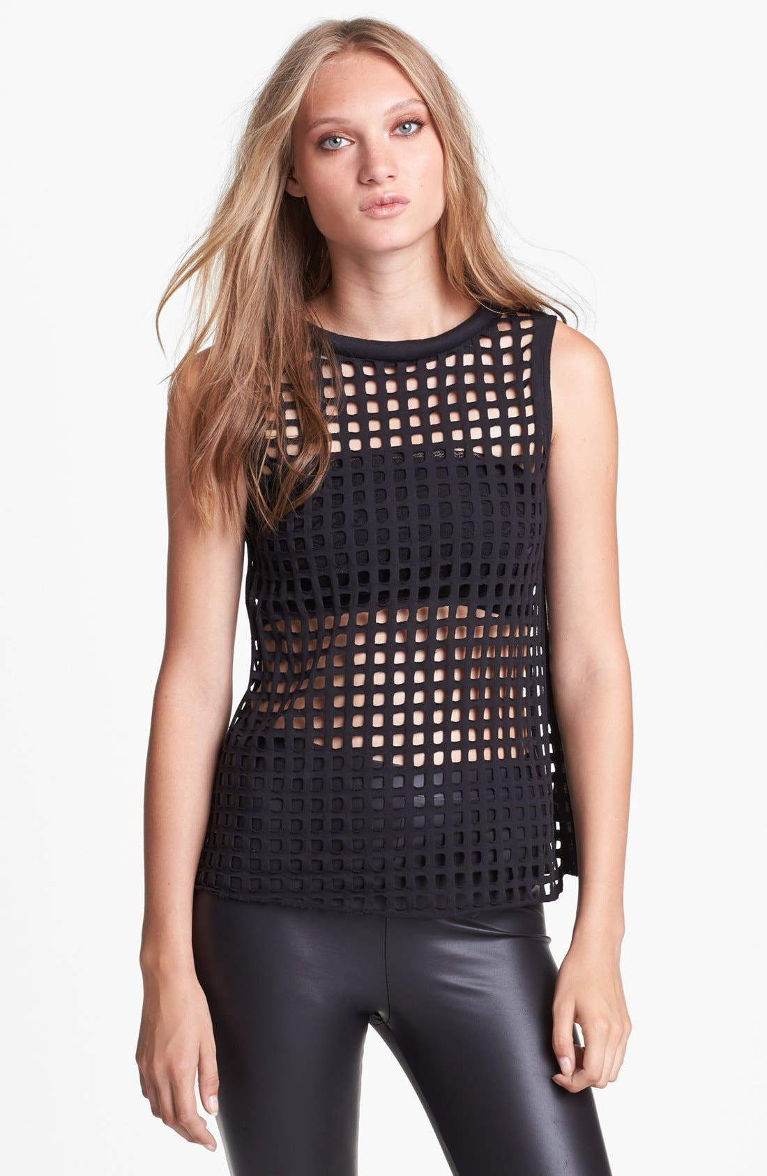 Main Image - ASTR Caged Sleeveless Top