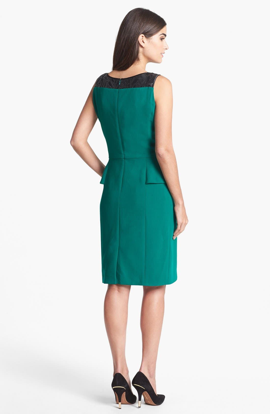 Alternate Image 2  - Tahari Embellished Peplum Sheath Dress