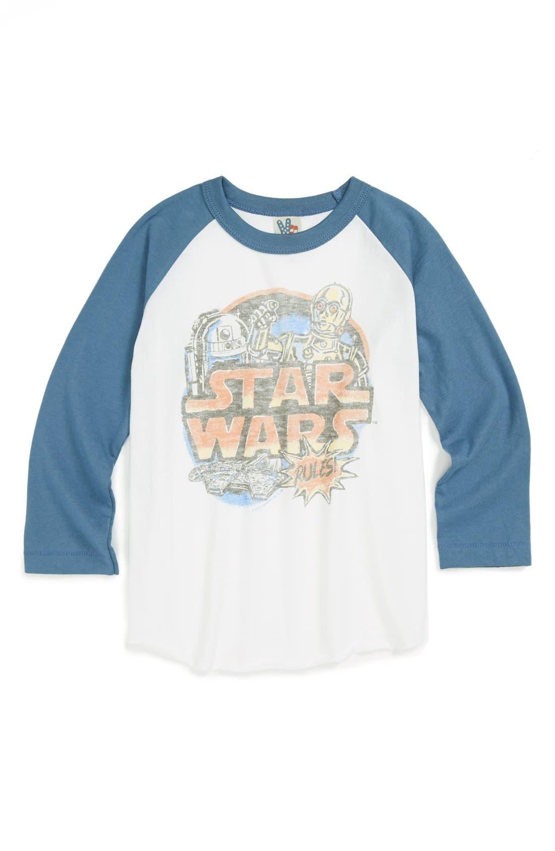 Alternate Image 1 Selected - Junk Food 'Star Wars™' Baseball T-Shirt (Toddler Boys)
