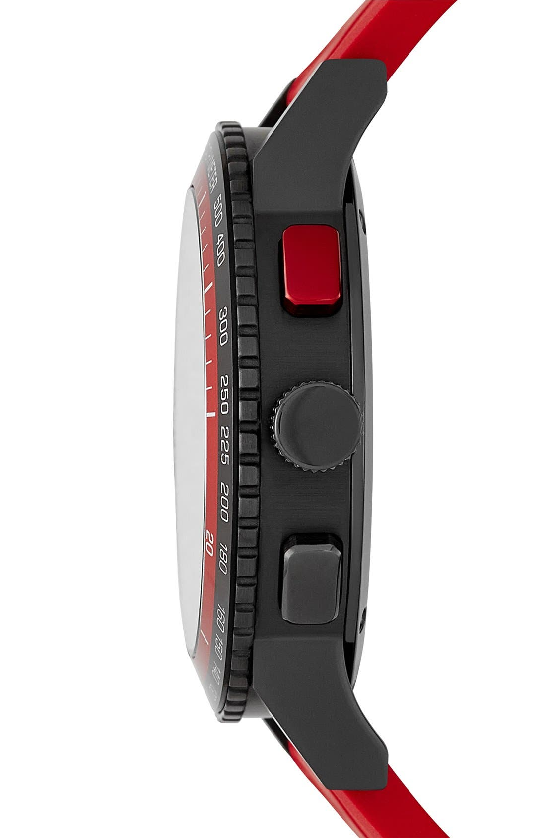 Alternate Image 4  - Burberry Chronograph Rubber Strap Watch, 42mm