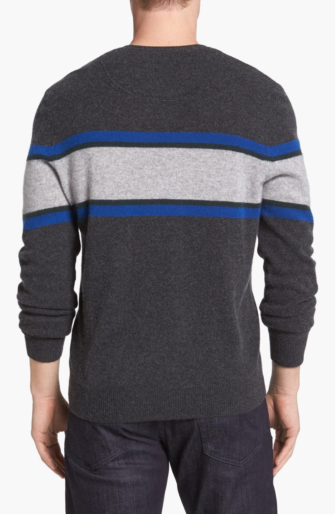 Alternate Image 2  - 1901 Cashmere V-Neck Sweater