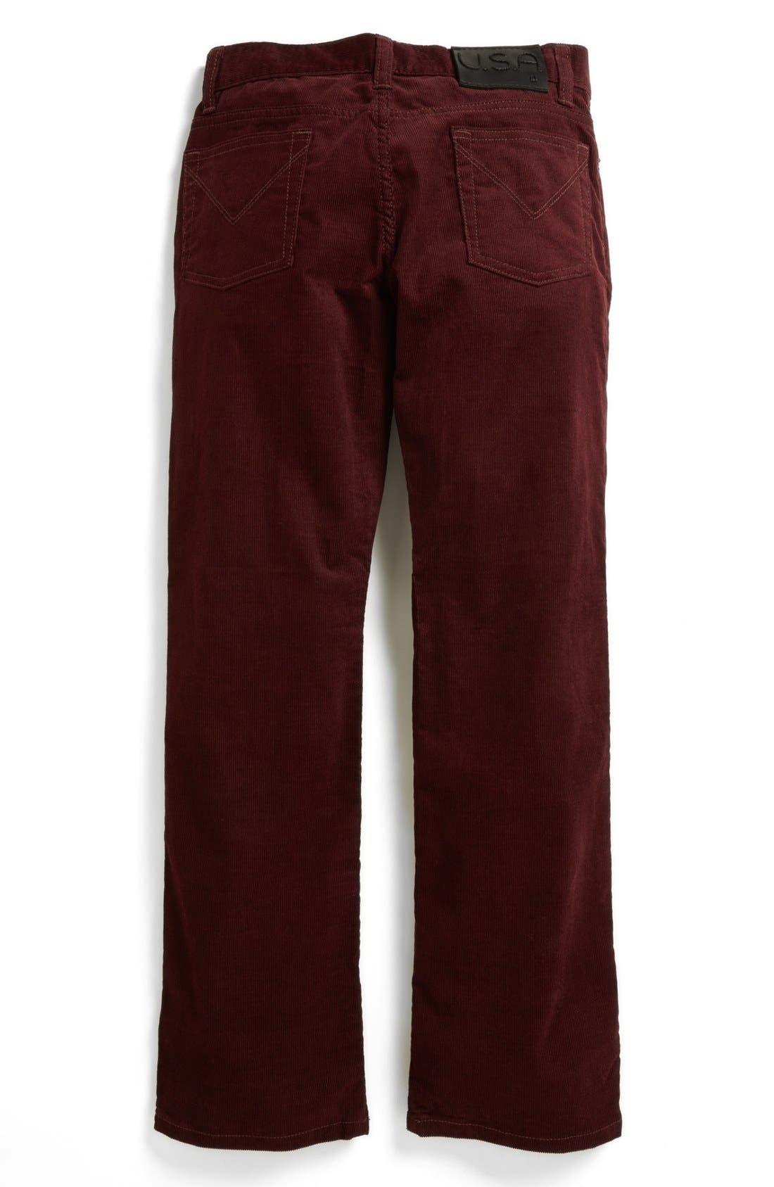 Alternate Image 1 Selected - John Varvatos Star USA Corduroy Jeans (Big Boys)