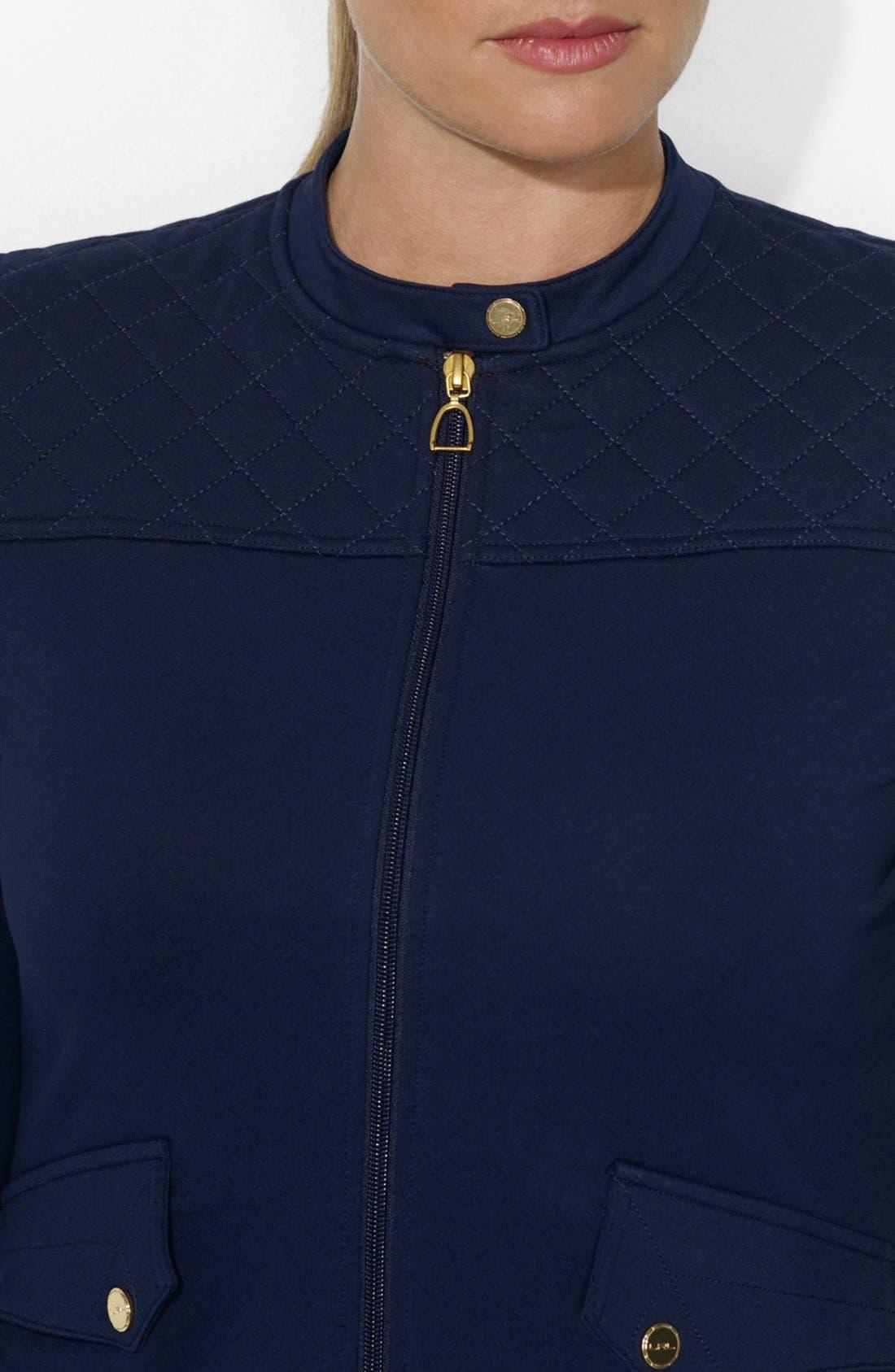Alternate Image 3  - Lauren Ralph Lauren Track Jacket (Plus Size)