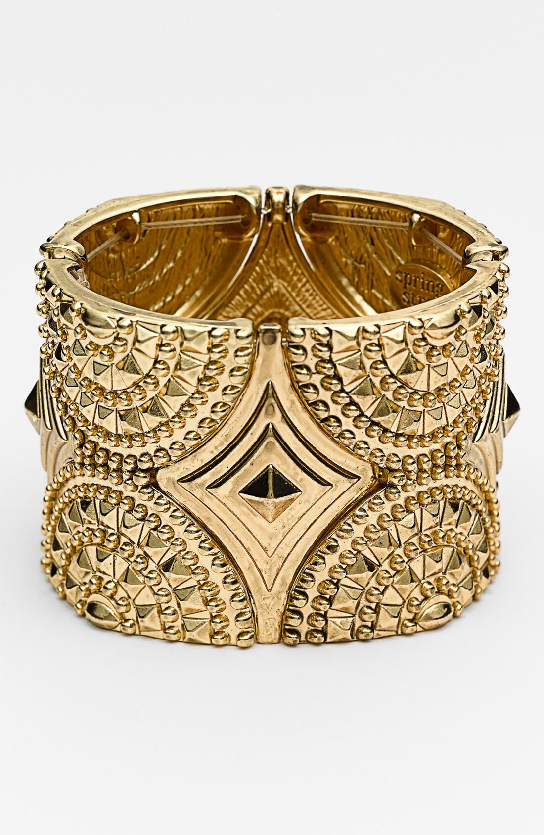 Alternate Image 1 Selected - Spring Street Studded Stretch Cuff