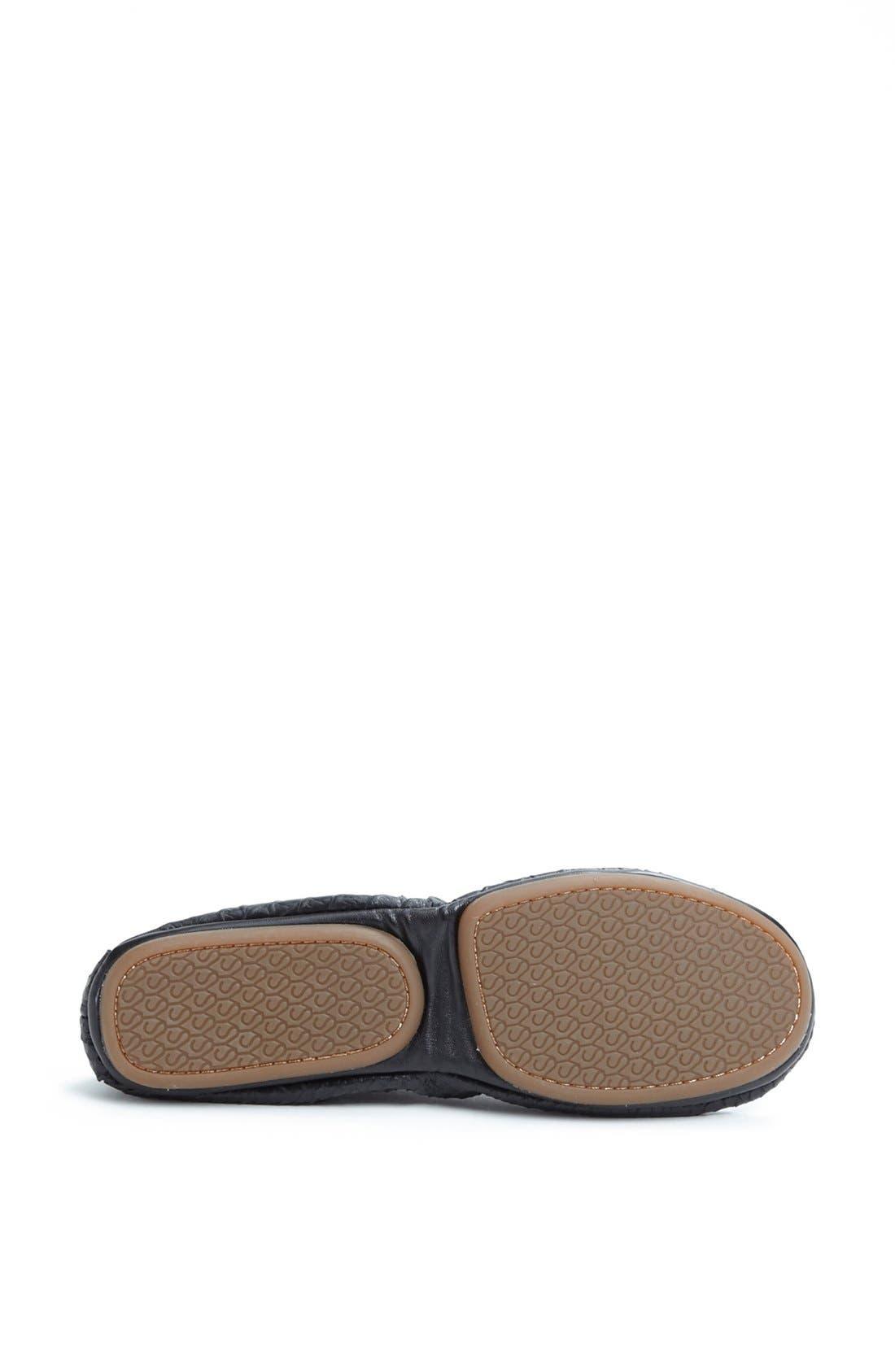 Alternate Image 4  - Yosi Samra Croc Embossed Foldable Ballet Flat