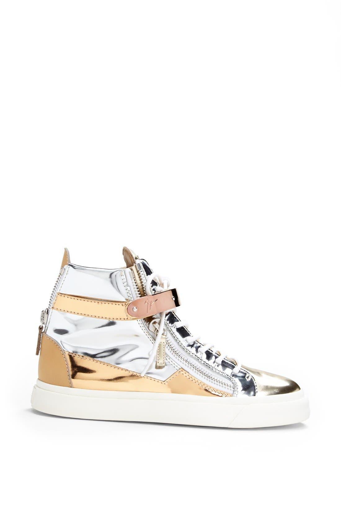 Alternate Image 4  - Giuseppe Zanotti 'London' High Top Wedge Sneaker